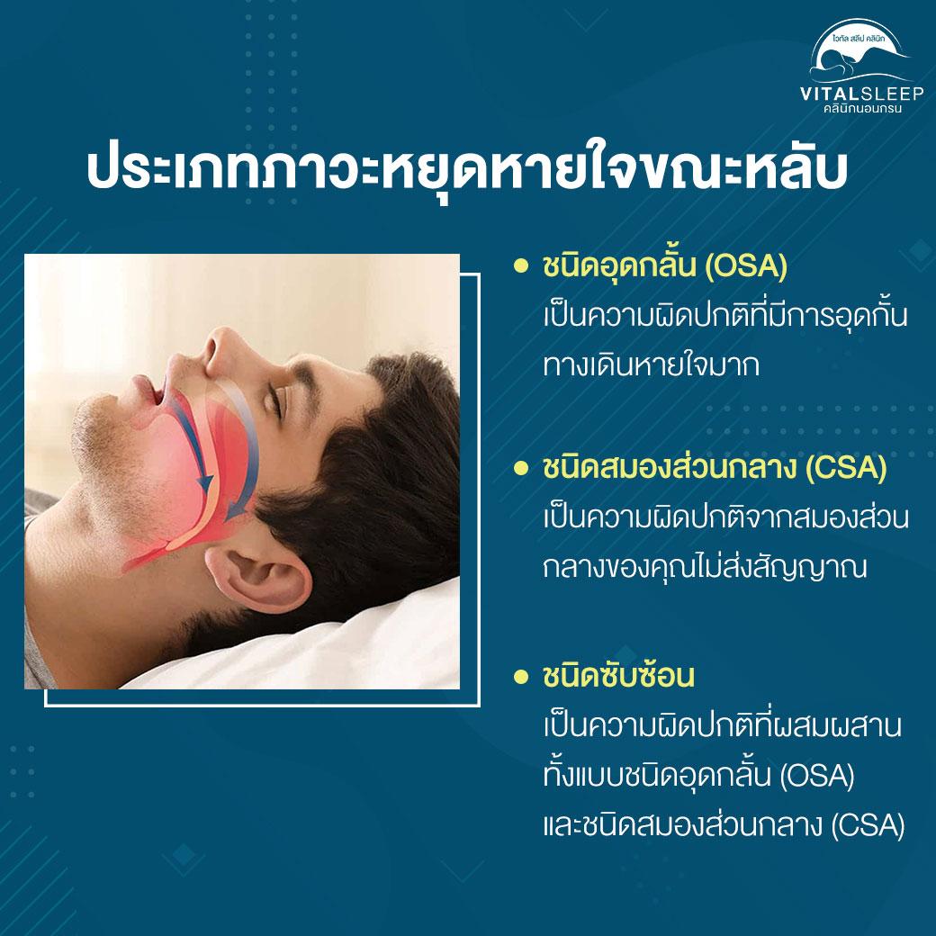 ประเภทอาการนอนกรน เสี่ยงต่อ ภาวะหยุดหายใจขณะหลับ